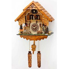 Orig. Schwarzwald-Kuckucksuhr- drehende Tänzer und 12 Melodien -Cuckoo Clocks