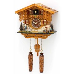 Orig. Schwarzwald- Kuckucksuhr Heidihaus mit 12 Melodien, Kuckuck -Cuckoo Clocks