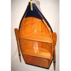 **Großes Regal in Bootsform- mit Paddeln- Holz- teilweise bemalt- 90 cm