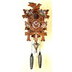 Orig. Schwarzwald- Kuckucksuhr- Edelweiß- Cuckoo Clock- handmade Germany Black Forest