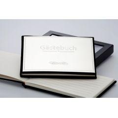 **Exclusives Gästebuch- 60 Seiten im Geschenkkarton - versilbert anlaufgeschützt- Germany