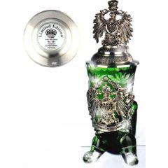 Kristall Bierkrug HORN ROTHENBURG -Adler - Eagle Lid- German Beer Stein, Beer Mug-Zinndeckel