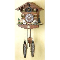 Orig. Schwarzwald-Kuckucksuhr-Schwarzwaldhaus Waldtiere -Cuckoo Clock-handmade Germany Black Forest