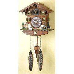 Orig. Schwarzwald-Kuckucksuhr-Schwarzwaldhaus Waldtiere -Cuckoo Clock-handmade Germany Black Forest