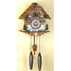 Orig. Schwarzwald-Kuckucksuhr-Schwarzwaldhaus mit Hund -Cuckoo Clock-handmade Germany Black Forest