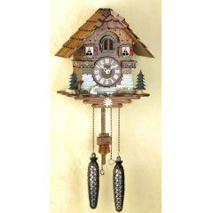 Orig. Schwarzwald-Kuckucksuhr-Schwarzwaldhaus mit Hund -Cuckoo Clock-handmade Germany Black Forest