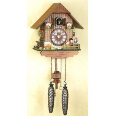 Orig.Schwarzwald-Kuckucksuhr-Schwarzwaldhaus/Pärchen -Cuckoo Clock-handmade Germany Black Forest (