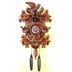 Orig.Schwarzwald-Kuckucksuhr-Kuckucksuhr- Vögel Jagd -Cuckoo Clock-handmade Germany Black Forest