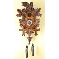 Orig. Schwarzwald- Kuckucksuhr- Vögel Blätter - Cuckoo Clock- handmade Germany Black Forest