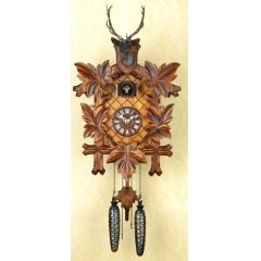 Orig. Schwarzwald- Kuckucksuhr mit Hirschkopf - Cuckoo Clock- handmade Germany Black Forest