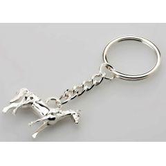 **Schlüsselanhänger Pferd- versilbert