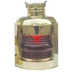 **Große Schiffslampe -Schiffsleuchte -Signallampe- Messing H 30 cm- Petroleum