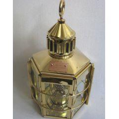 **Große Petroleum- Schiffslampe- Schiffsleuchte aus Messing, Gesamthöhe ca. 57 cm,Gewicht ca. 4000g