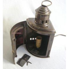 **Backbordlampe- Schiffslampe - Schiffsleuchte - elektrisch 220V - matt Messing- brüniert- anlaufges
