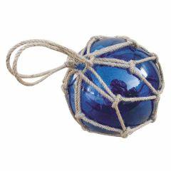 ** GROSSE Fischerkugel im Netz 15 cm- blau