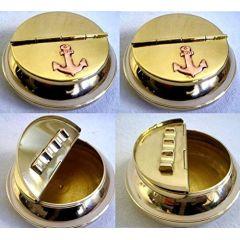 **4 Stück-maritimer Aschenbecher - Messing - mit Ankermotiven 10 cm