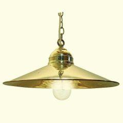 **Elegante Messing- Schiffslampe - Schiffsleuchte - Hängelampe 35,5 cm
