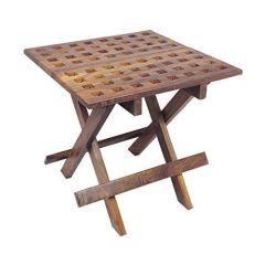 Eckiger Beistelltisch aus Holz-Gartentisch,Campingtisch,Klapptisch,Kajütentisch