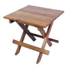 Rustikal Beistelltisch aus Holz-Gartentisch,Campingtisch,Klapptisch,Kajütentisch