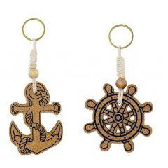 Schlüsselanhänger/Ring - Kork - maritim- schwimmfähig