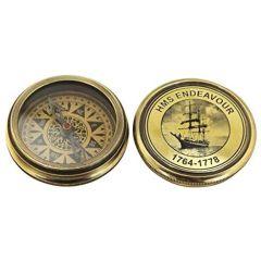 Dekorativer Kompass mit Deckel- Schiff, Segler- im Antikdesign- kein polieren