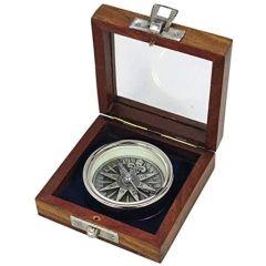 Kompass, verchromt- dreidimensionale Optik