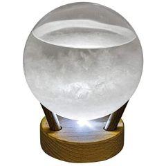 Sturmglas/Barometer/Wetterglas auf Holz- LED Licht