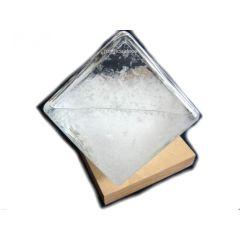 Sturmglas/Barometer/Wetterglas auf Holz- Quaderform