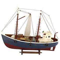 Dekorativer Kutter- Fischkutter- Standmodell aus Holz- 46 cm