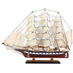 Modell- Segelschiff, Schiffsmodell Segler Holz 64 cm