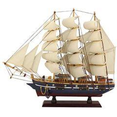 Modell- Segelschiff, Schiffsmodell Segler Holz 47 cm