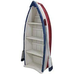 Großes Shabby- Regal in Bootsform- mit Paddeln- Holz- bemalt 75 cm