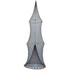 Maritime Deko- Fischreuse mit 3 Bambusringen 100 cm