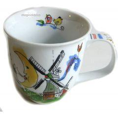 Porzellan- Tasse, Kaffeetasse, Teetasse- Greetsiel Nordsee - deutsches Produktdesign