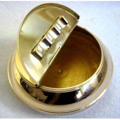 **maritimer Aschenbecher - Messing - mit Ankermotiven 10 cm