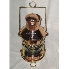 **Massive Ankerlampe Petroleum- Schiffslampe - Schiffsleuchte - Kupfer/Messing H 24 cm