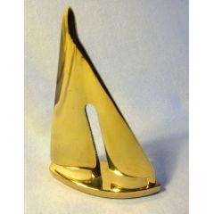 **Segelyacht- Schiffsmodell aus massiv Messing - 19 cm- maritime Deko