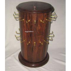 **Massiver Verkaufsständer für Schlüsselanhänger,36 Haken-drehbar- 45cm/Holz 3000g