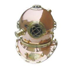 **XL- Edler Taucherhelm aus Kupfer und Messing H 48 cm- Seefahrt- Nautik