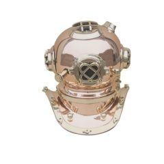 **Edler Taucherhelm aus Kupfer und Messing H 28 cm- Seefahrt- Nautik