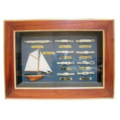 *Sehr dekorative Knotentafel + Schiffsmodell+ maritimen Accessoires 36cm