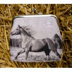 Clipgeldbörse Geldbeutel Portemonnaie Pferd Thunderbolt