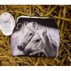 Clipgeldbörse Geldbeutel Portemonnaie Pferdefreundschaft