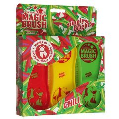 Magic Brush Pferdebürsten 3er Set Chili