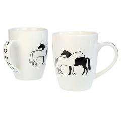 Tasse / Kaffeebecher Zwei Pferde