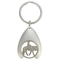 Schlüsselanhänger Katze mit Einkaufswagen-Chip Westernreiter