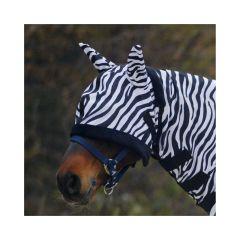 Waldhausen Fliegenmaske Zebra mit Ohren, WB