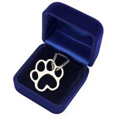 Halskette Pfotenabdruck Hundepfote Katzenpfote