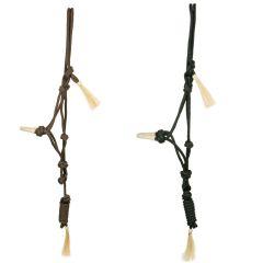 Knotenhalfter mit Rohhaut und Seil