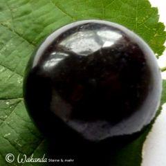Schörl (schwarzer Turmalin) Kugel ca. 3,6 cm Durchmesser